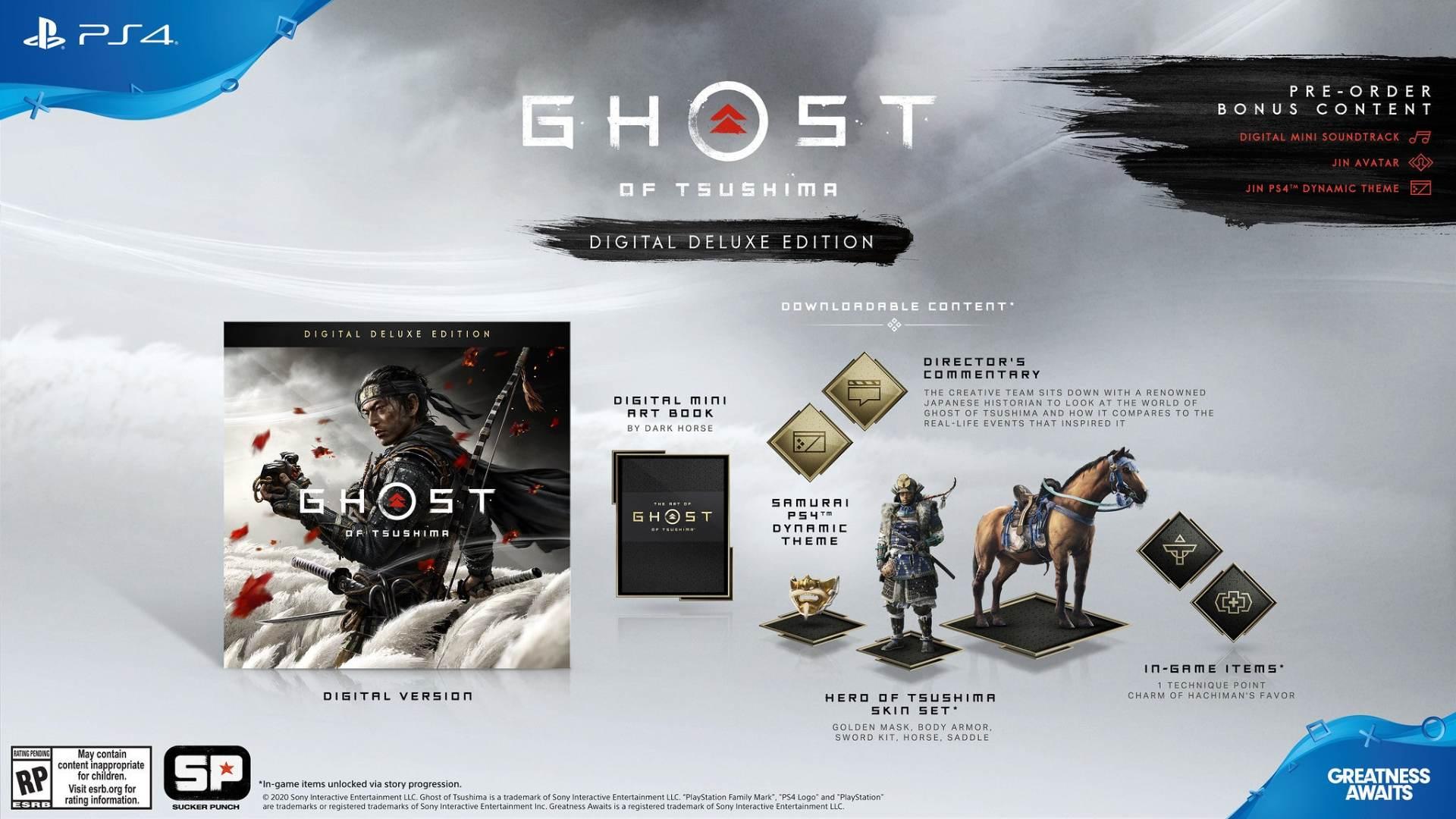 نسخه دیلاکس بازی Ghost of Tsushima